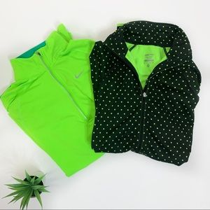Set of 2 NIKE Dri-Fit Quarter Zip Pullovers 809